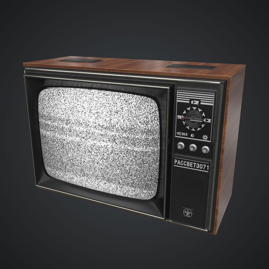 Old Soviet TV royalty-free 3d model - Preview no. 5