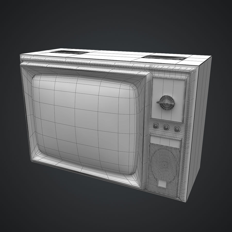 Old Soviet TV royalty-free 3d model - Preview no. 10
