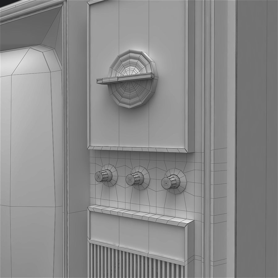 Old Soviet TV royalty-free 3d model - Preview no. 11