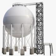 Gas Storage Low Poly 3d model