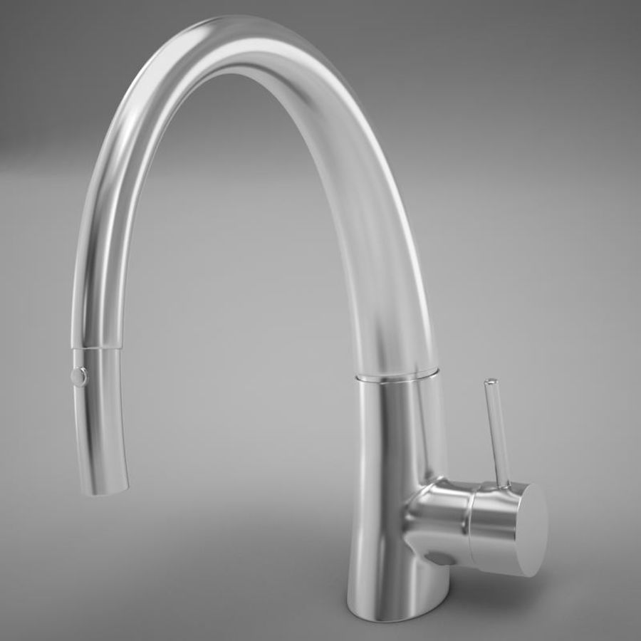 Faucet modern HD royalty-free 3d model - Preview no. 8