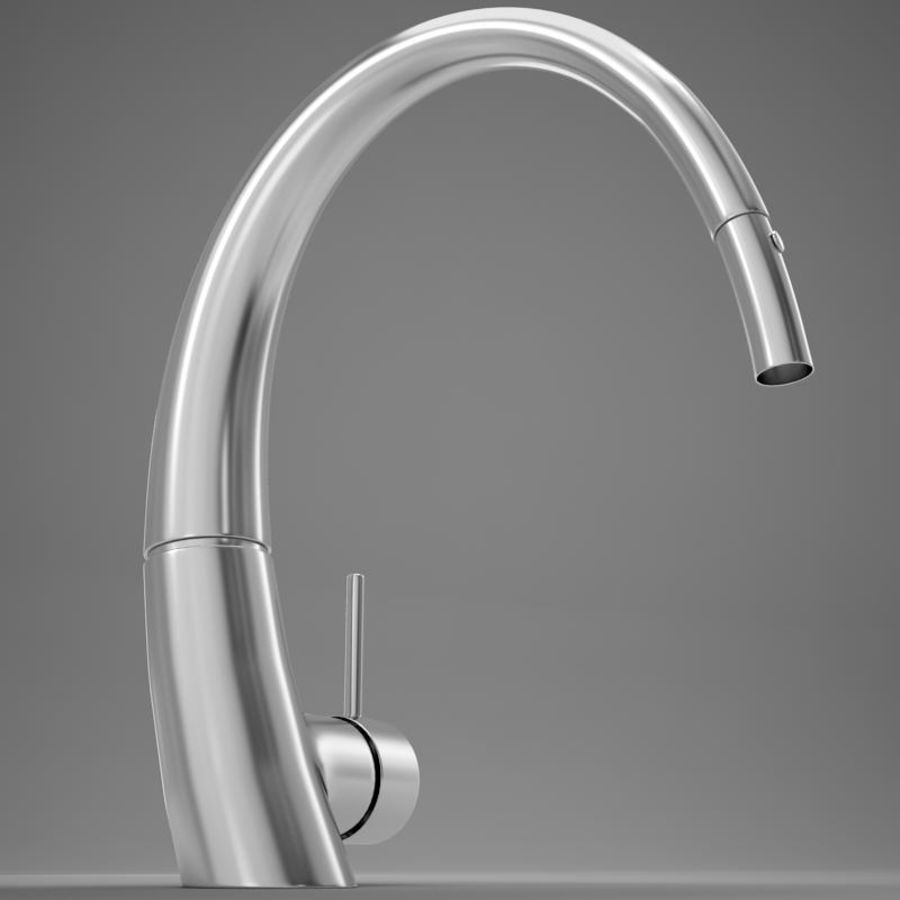 Faucet modern HD royalty-free 3d model - Preview no. 10