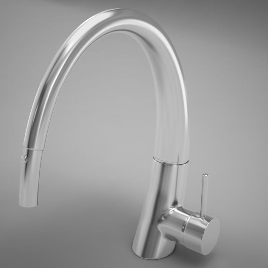 Faucet modern HD royalty-free 3d model - Preview no. 2
