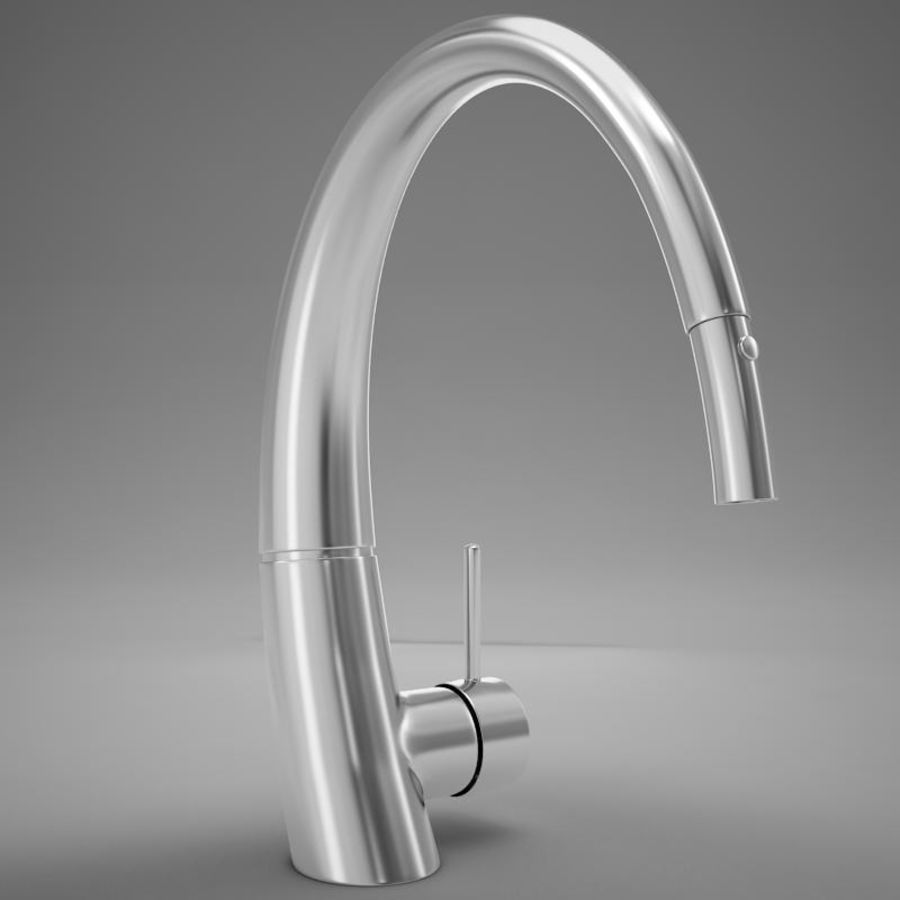 Faucet modern HD royalty-free 3d model - Preview no. 6