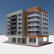 近代的なアパートシティビル -  HD都市の景観タイル2 3d model