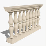 Klassisk Balustrade 3d model