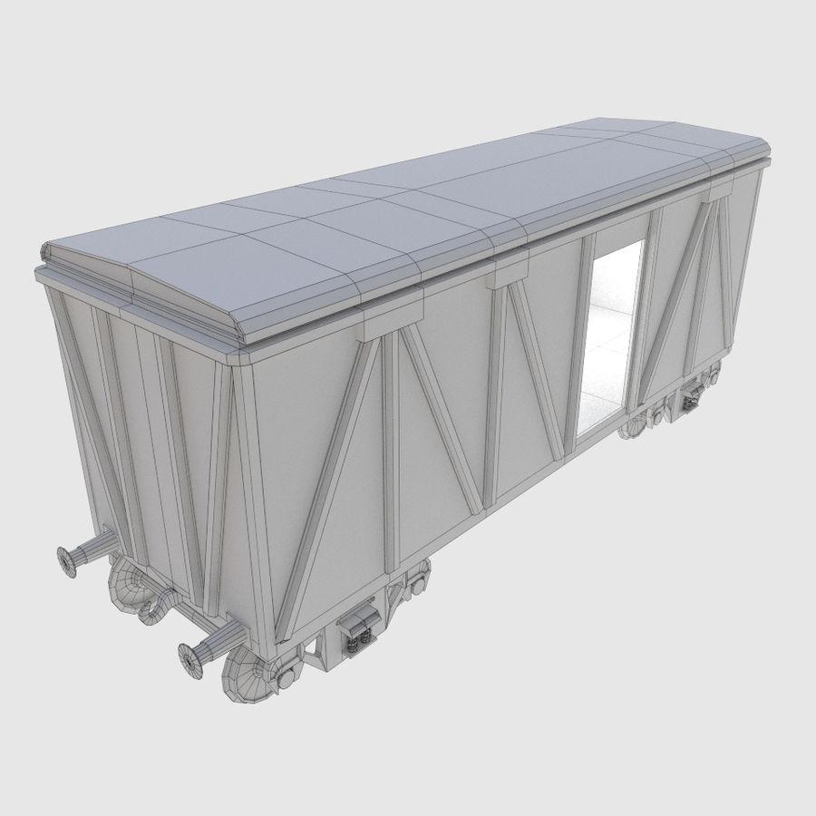 貨物列車ワゴン royalty-free 3d model - Preview no. 2