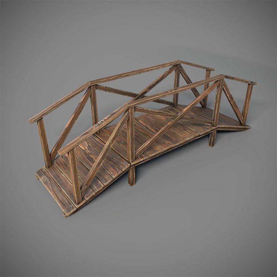 Wooden Bridge royalty-free 3d model - Preview no. 1