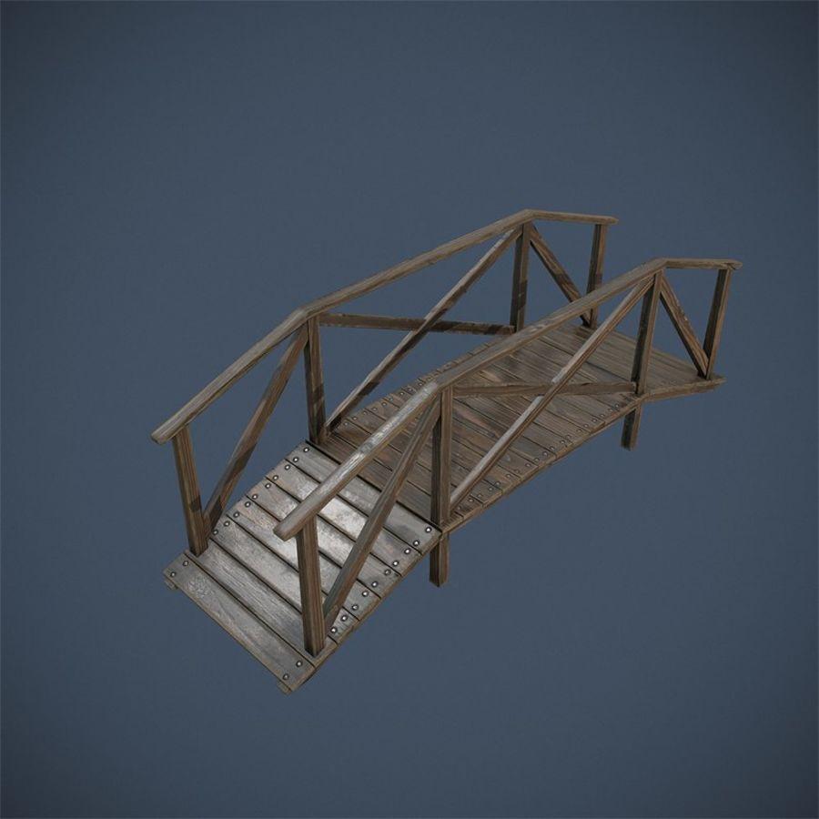 Wooden Bridge royalty-free 3d model - Preview no. 5