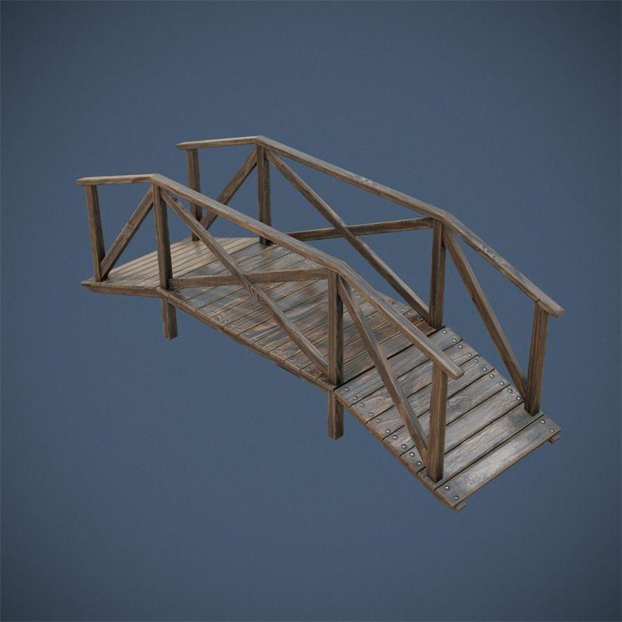 Wooden Bridge royalty-free 3d model - Preview no. 6