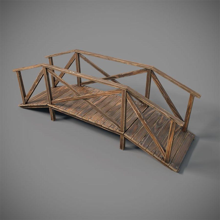 Wooden Bridge royalty-free 3d model - Preview no. 3