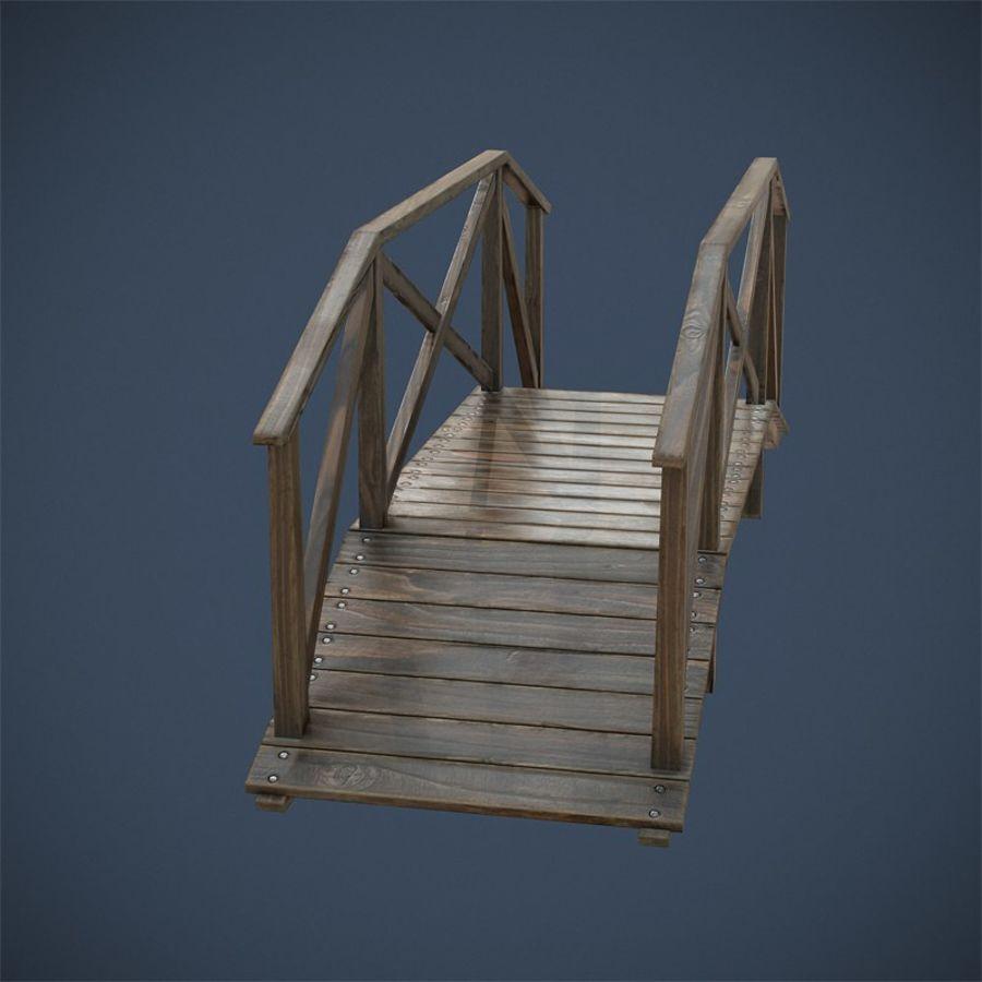 Wooden Bridge royalty-free 3d model - Preview no. 7