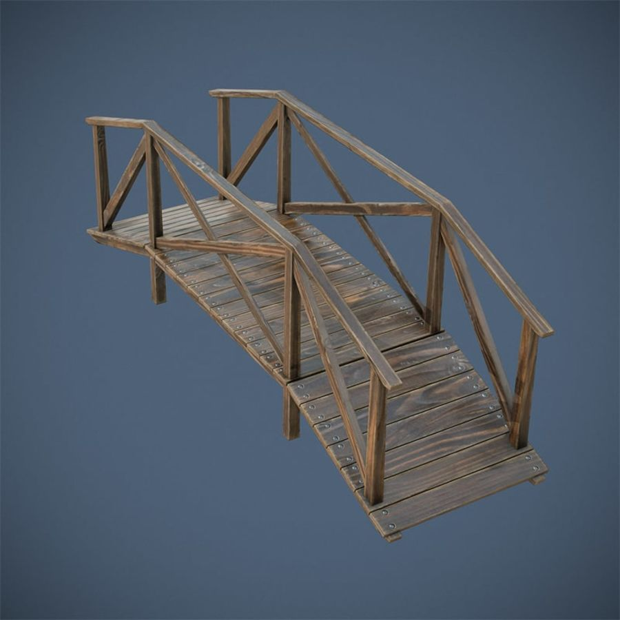 Wooden Bridge royalty-free 3d model - Preview no. 8