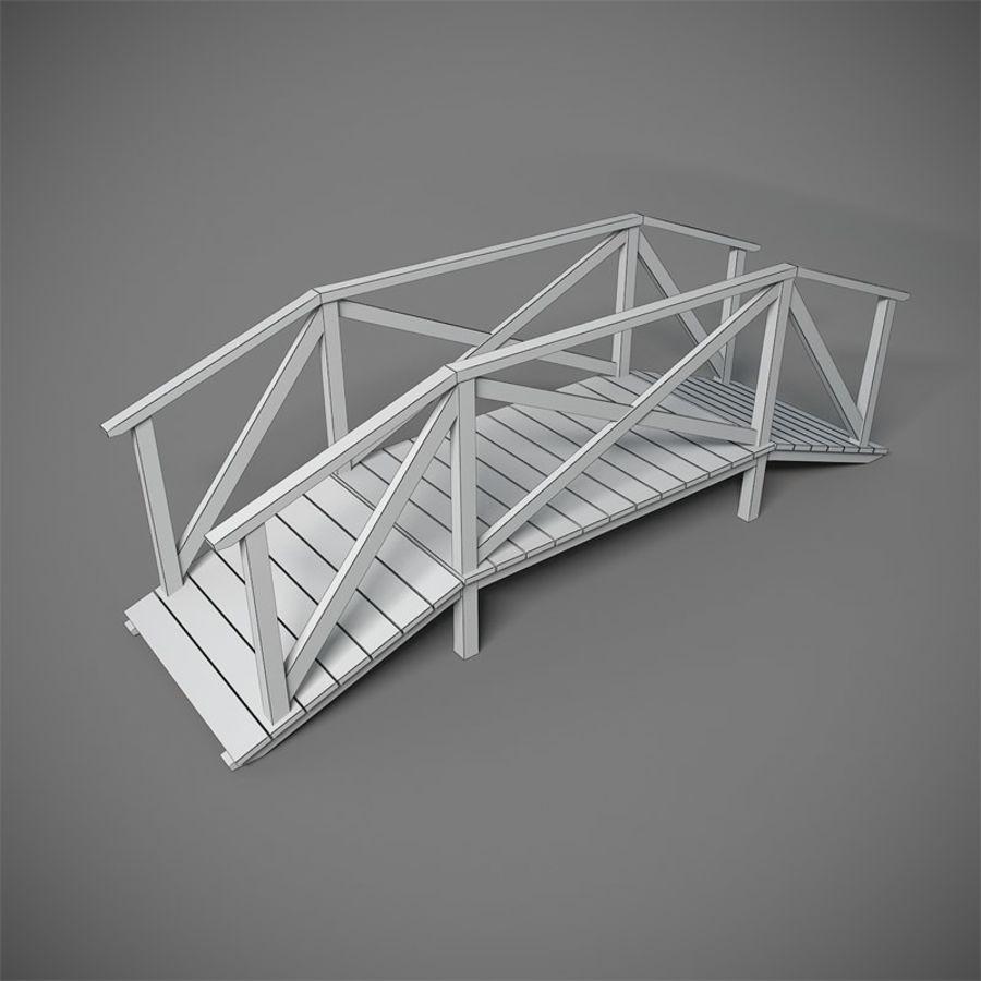 Wooden Bridge royalty-free 3d model - Preview no. 2