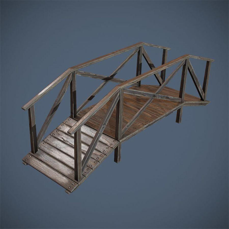 Wooden Bridge royalty-free 3d model - Preview no. 9