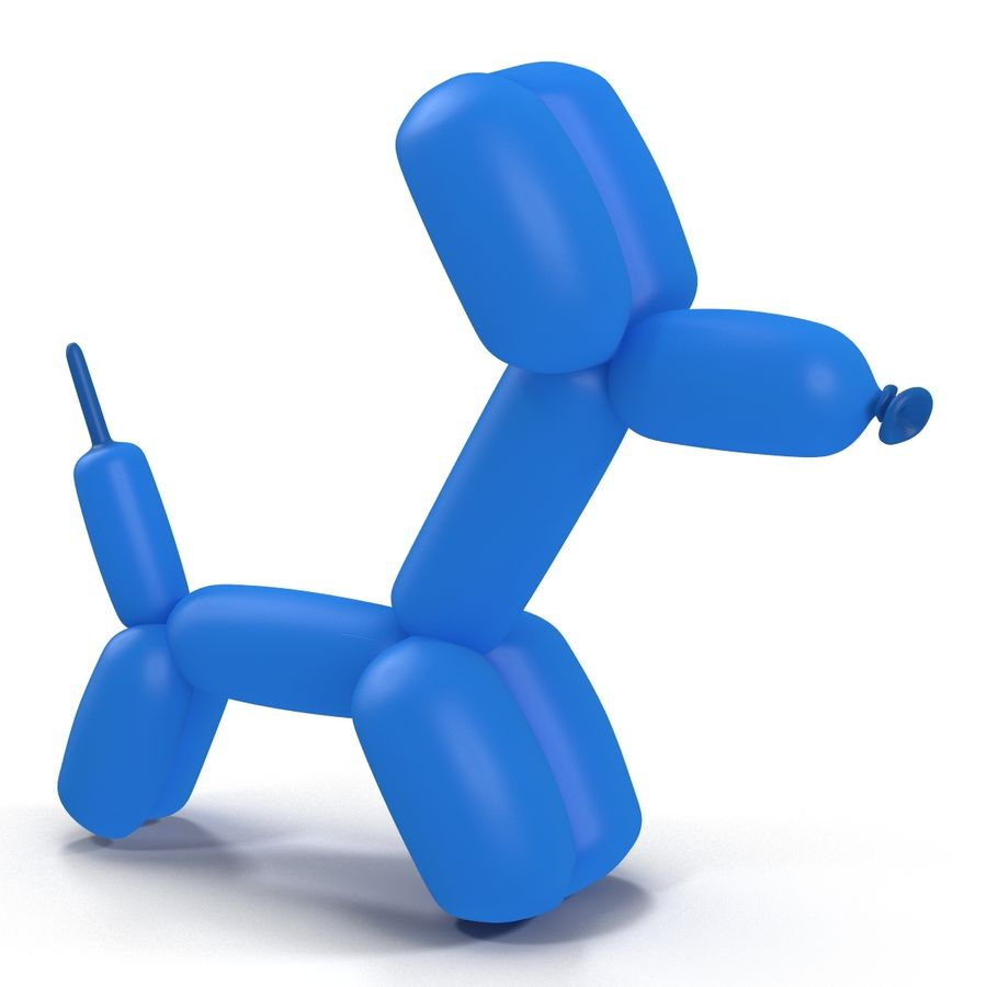 Balloon Dog royalty-free 3d model - Preview no. 5