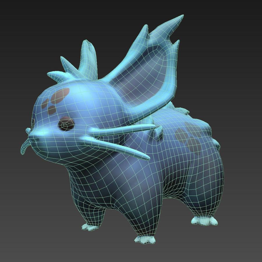 Pokemon nidorina lowpoly pbr rigged plus walkcycle royalty-free 3d model - Preview no. 4