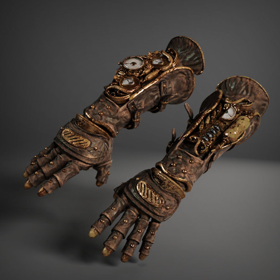 gloves royalty-free 3d model - Preview no. 4