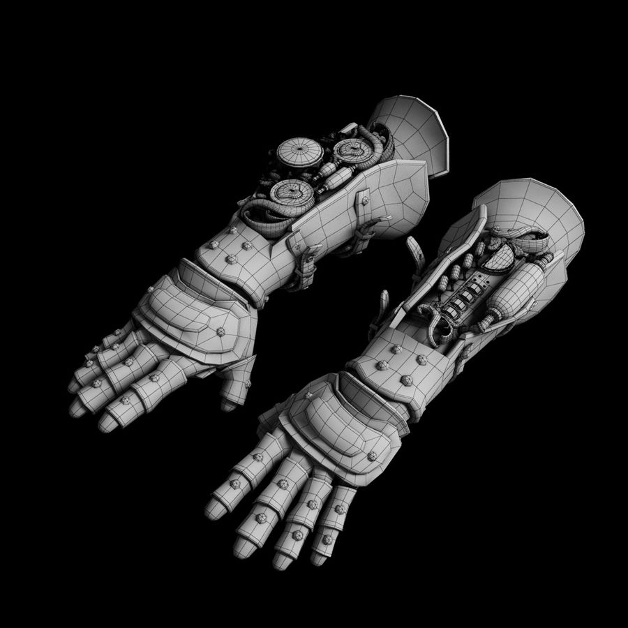 gloves royalty-free 3d model - Preview no. 2