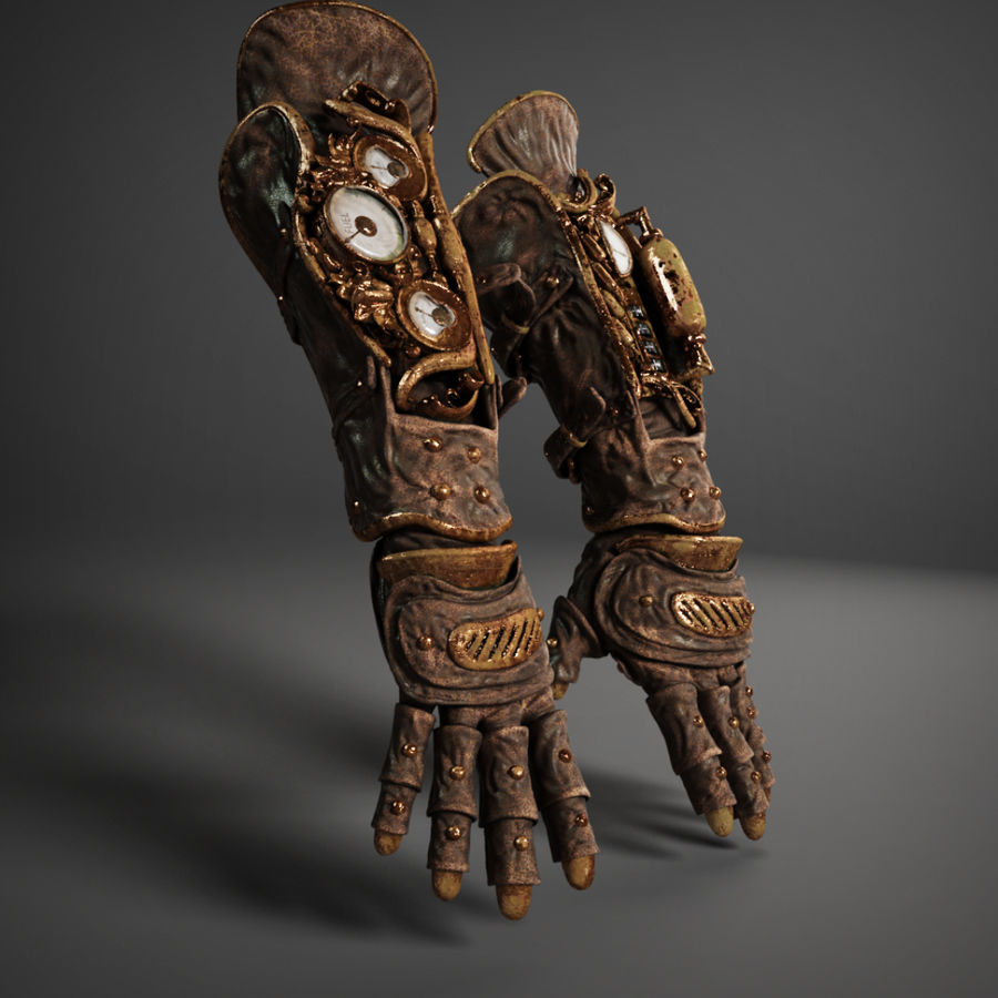 gloves royalty-free 3d model - Preview no. 6