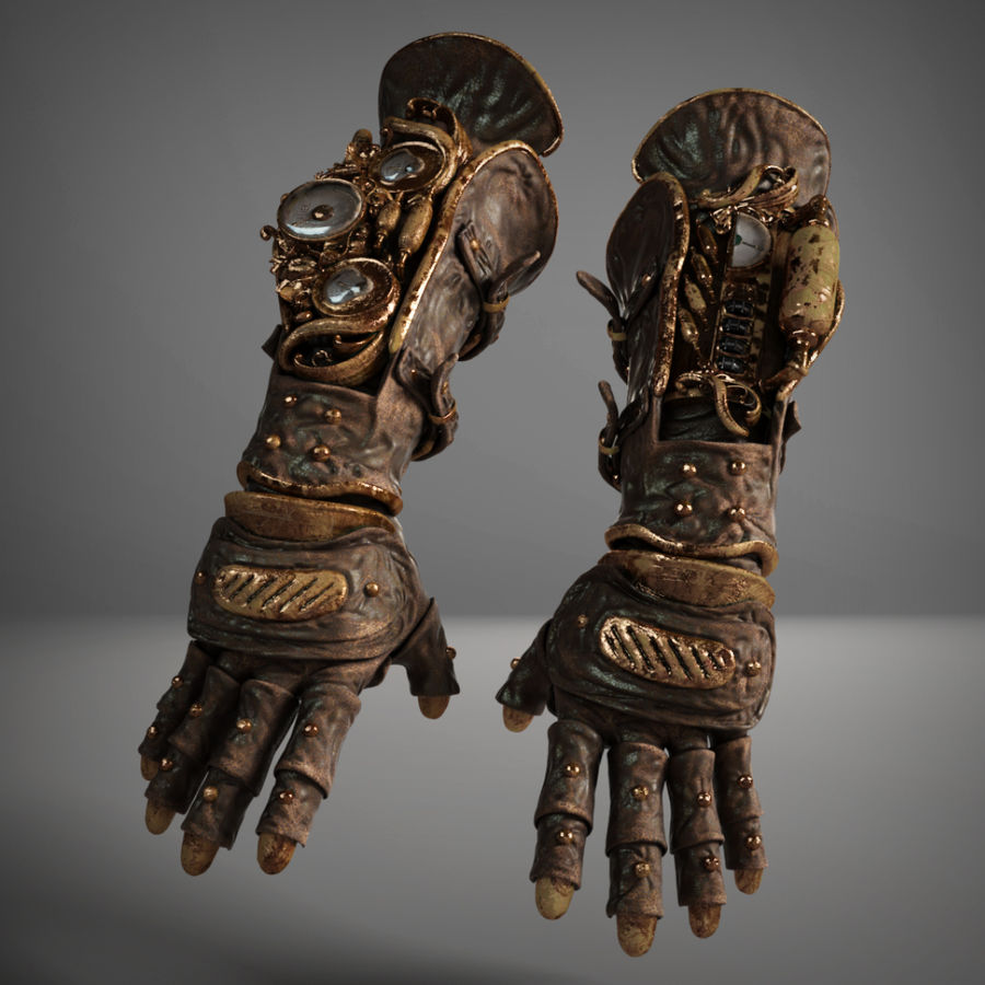 gloves royalty-free 3d model - Preview no. 10