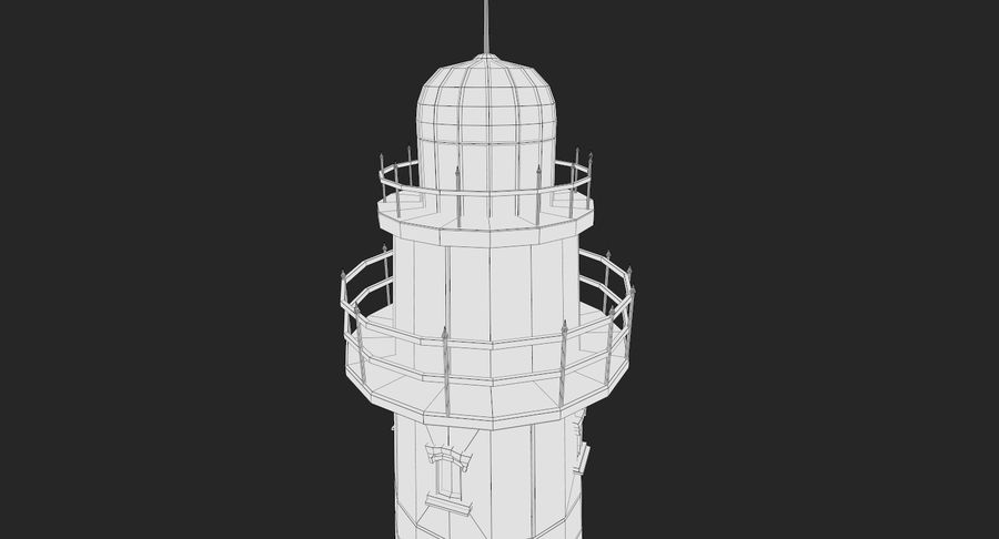 Lighthouse Low Poly royalty-free 3d model - Preview no. 11