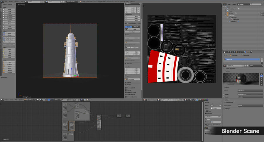 Lighthouse Low Poly royalty-free 3d model - Preview no. 15