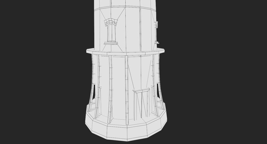 Lighthouse Low Poly royalty-free 3d model - Preview no. 12