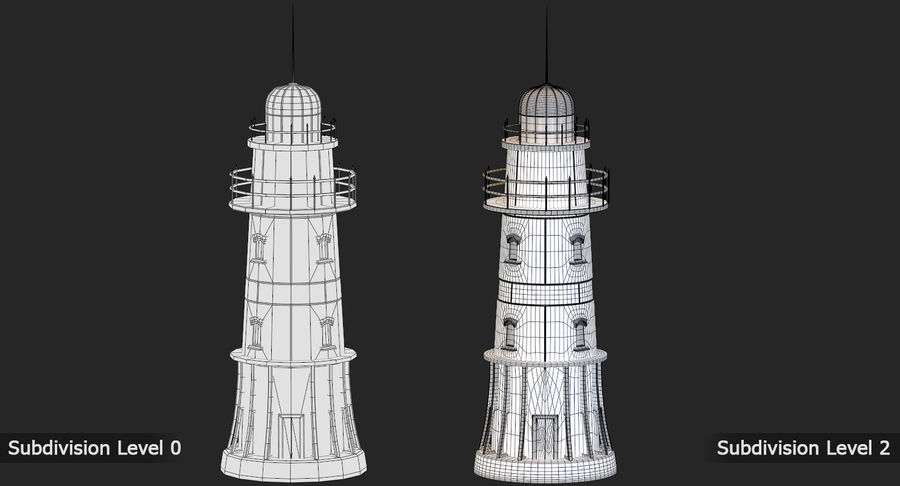 Lighthouse Low Poly royalty-free 3d model - Preview no. 13
