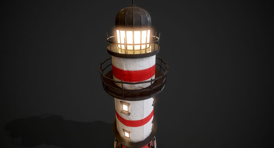 Lighthouse Low Poly royalty-free 3d model - Preview no. 8