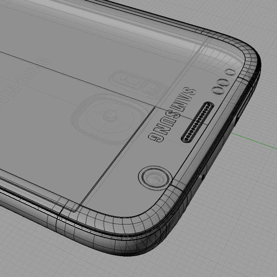 Samsung Galaxy S7 royalty-free 3d model - Preview no. 16