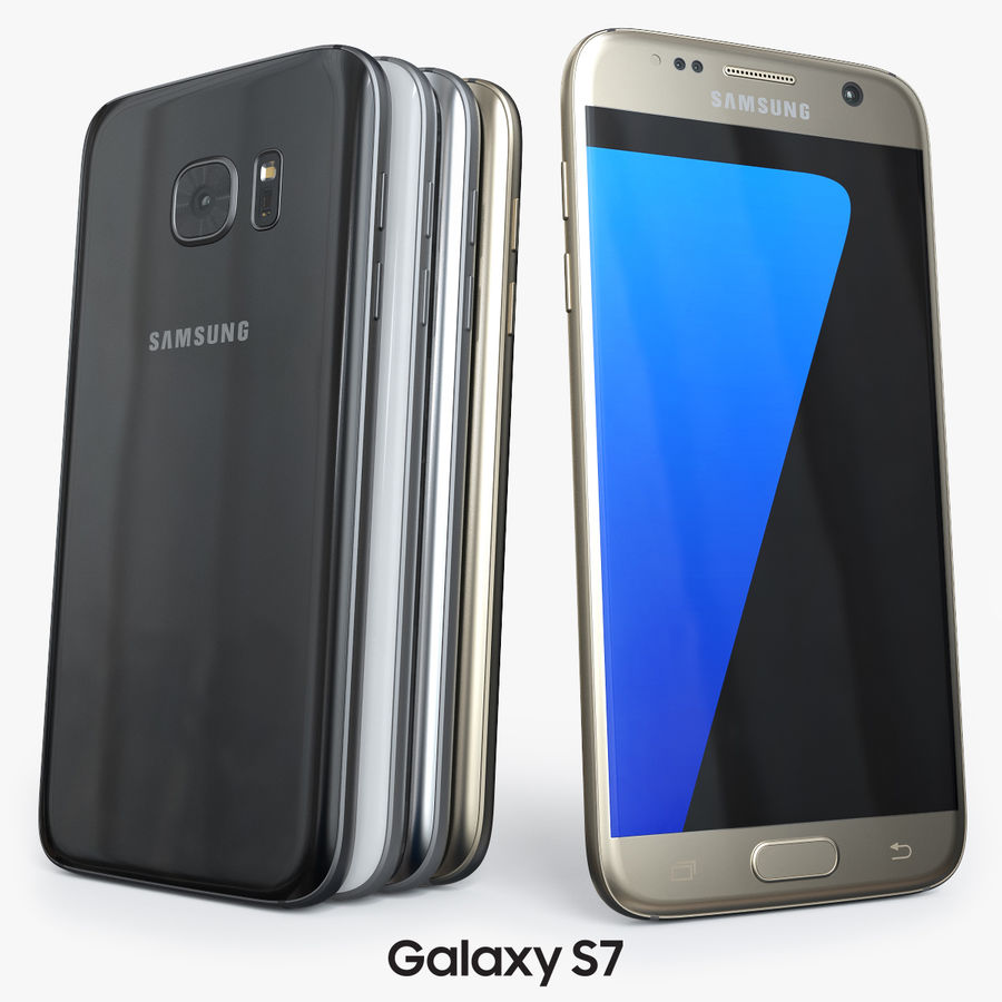Samsung Galaxy S7 royalty-free 3d model - Preview no. 1