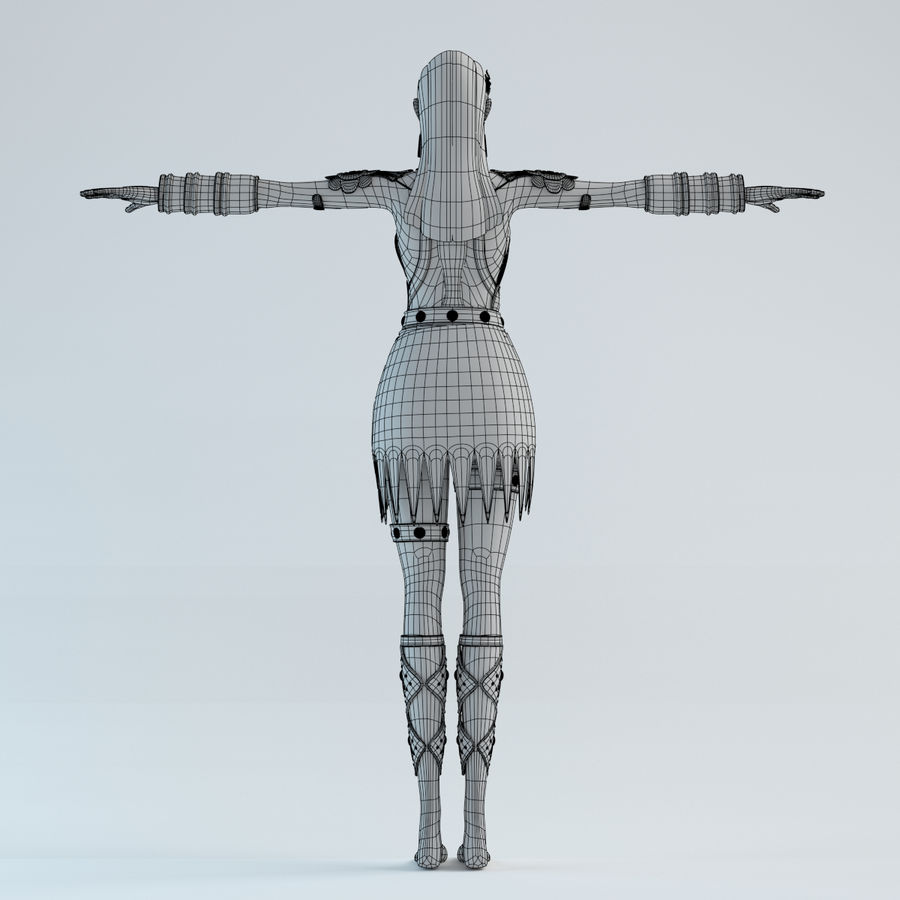 woman model royalty-free 3d model - Preview no. 13