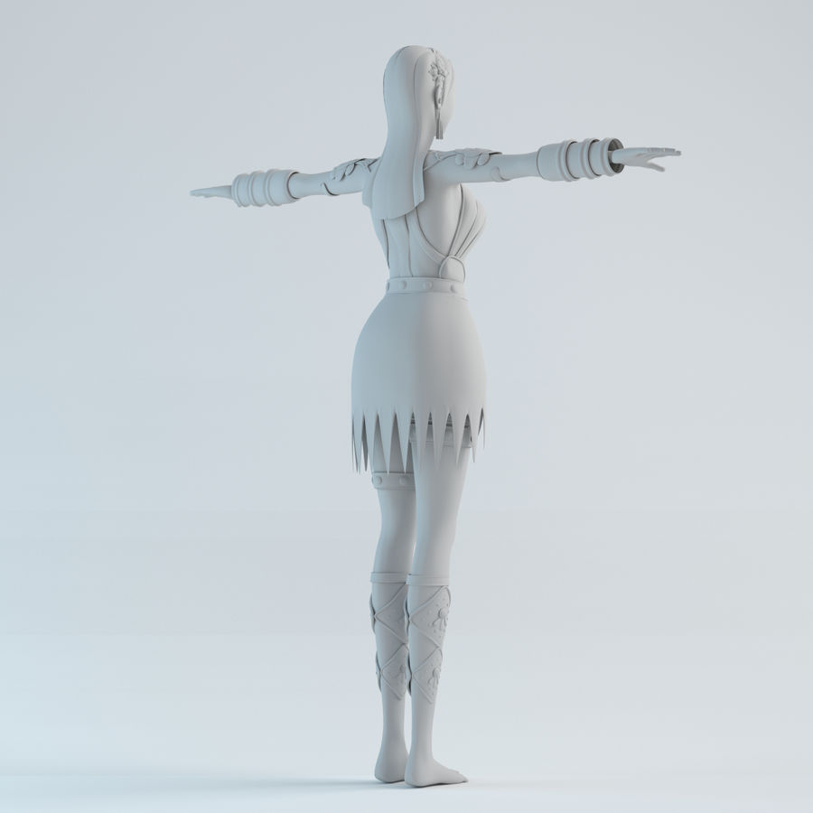 woman model royalty-free 3d model - Preview no. 7