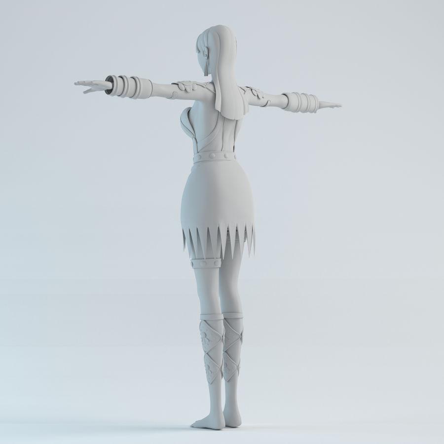 woman model royalty-free 3d model - Preview no. 5