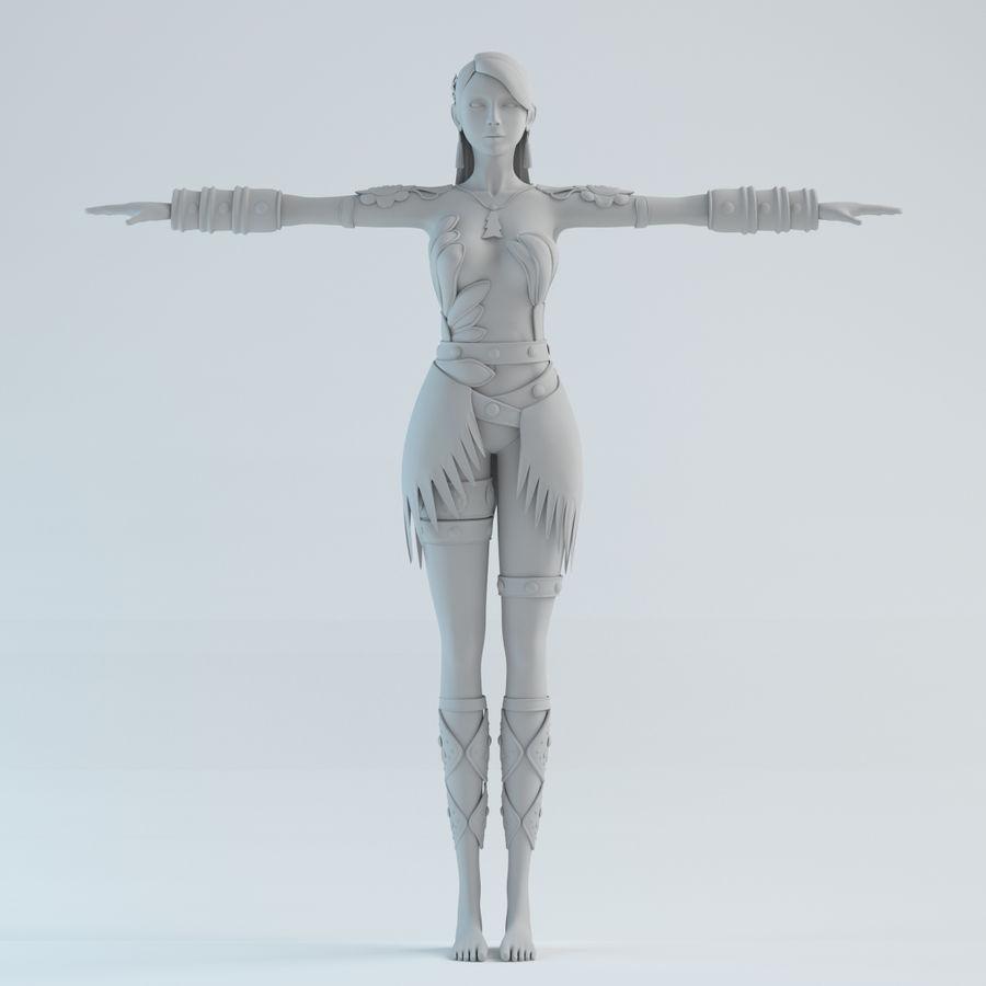 woman model royalty-free 3d model - Preview no. 2