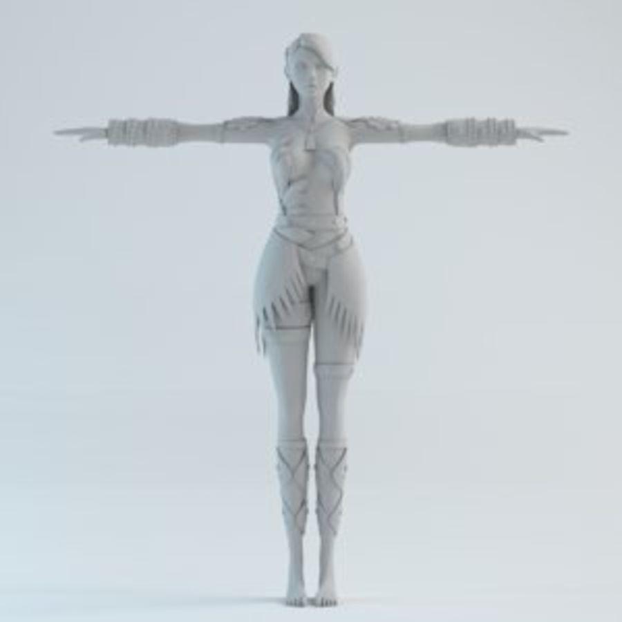 woman model royalty-free 3d model - Preview no. 1