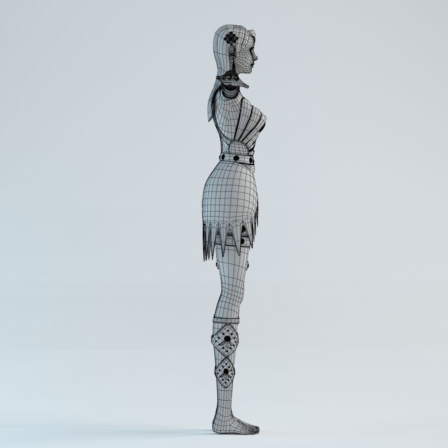 woman model royalty-free 3d model - Preview no. 15