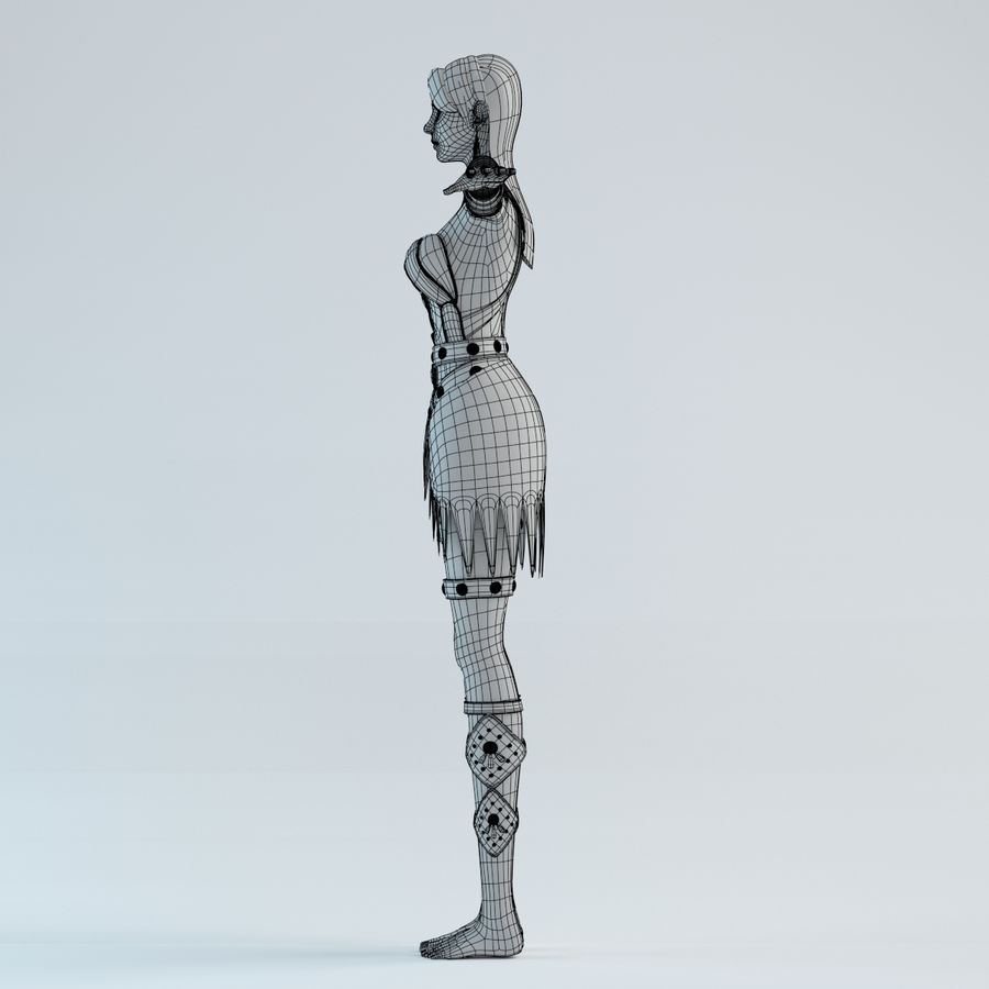 woman model royalty-free 3d model - Preview no. 11