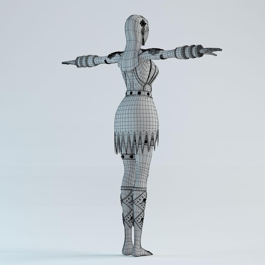 woman model royalty-free 3d model - Preview no. 14