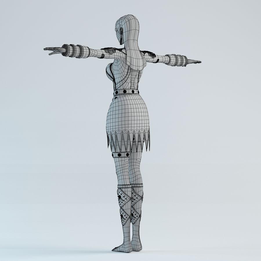 woman model royalty-free 3d model - Preview no. 12