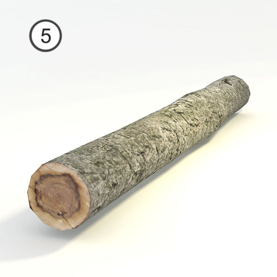 set van houten logs royalty-free 3d model - Preview no. 13