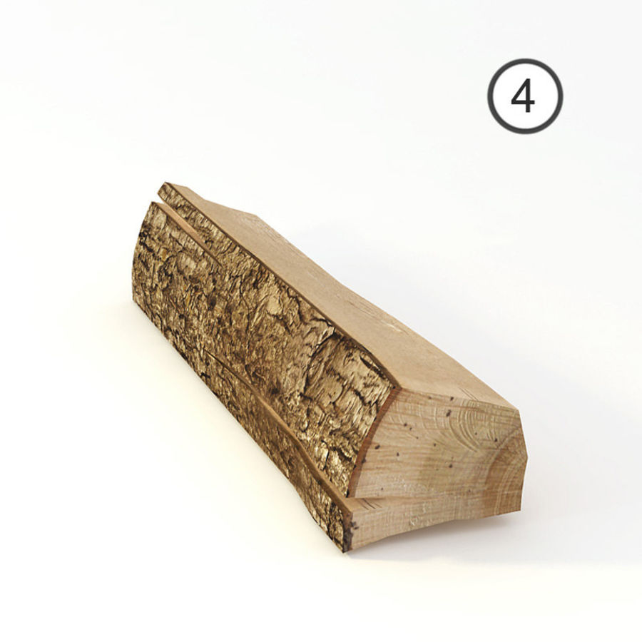 set van houten logs royalty-free 3d model - Preview no. 11