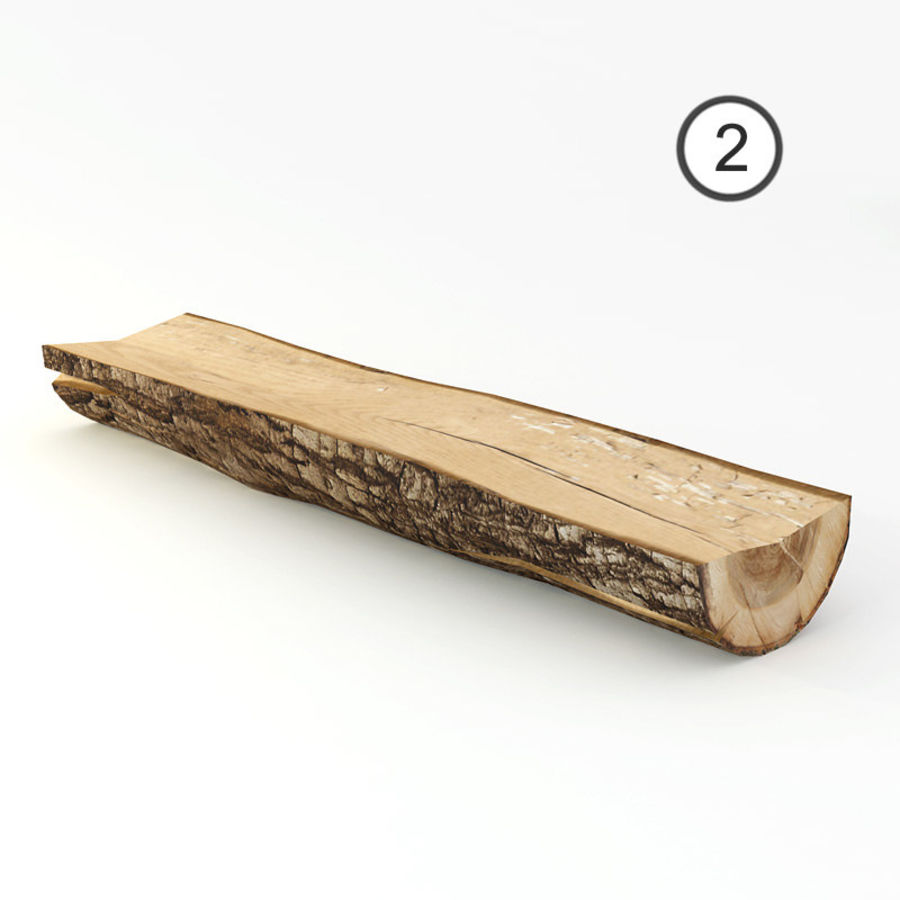 set van houten logs royalty-free 3d model - Preview no. 7