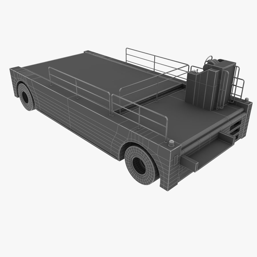 Airport Cargo Loader royalty-free 3d model - Preview no. 16