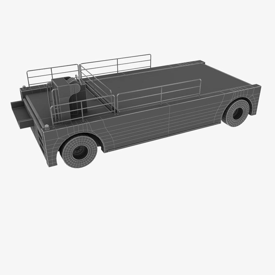 Airport Cargo Loader royalty-free 3d model - Preview no. 13