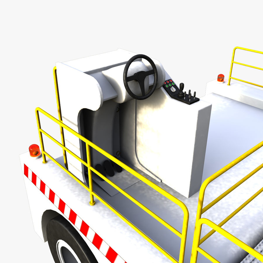 Airport Cargo Loader royalty-free 3d model - Preview no. 7