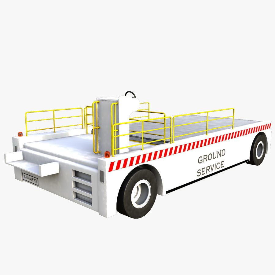 Airport Cargo Loader royalty-free 3d model - Preview no. 6