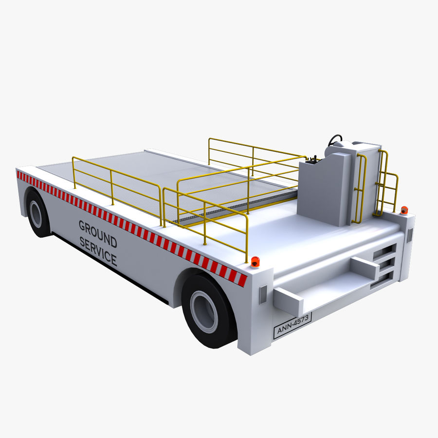 Airport Cargo Loader royalty-free 3d model - Preview no. 1