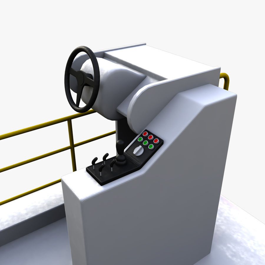 Airport Cargo Loader royalty-free 3d model - Preview no. 8